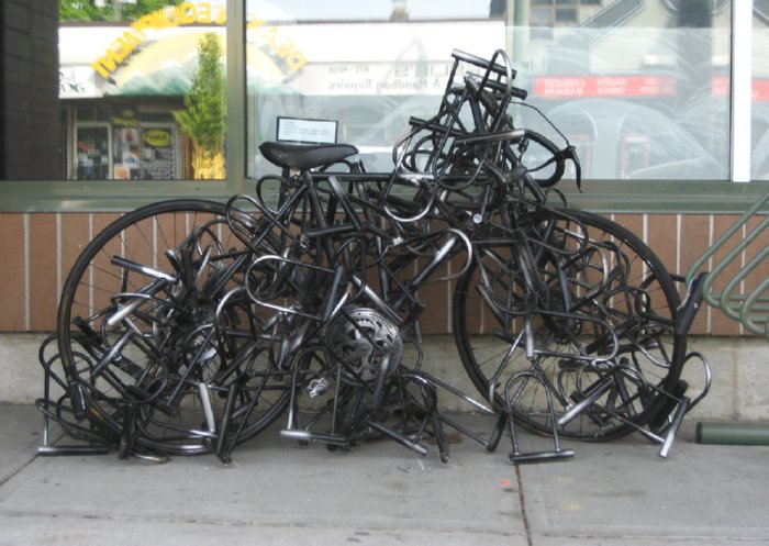 bicycle art sculptures
